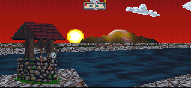 Sunset in Arena the Elder Scroll