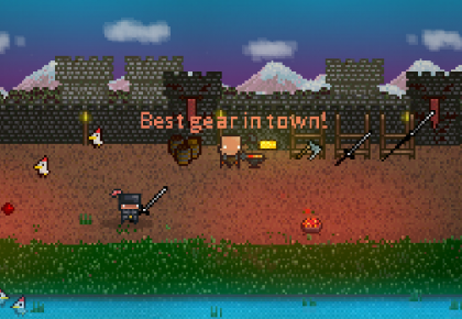 best gear in town dungeon scroller